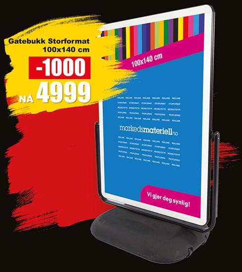 BLACK DAYS! Gatebukk Storformat fra Markedsmateriell.no!