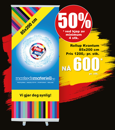 BLACK DAYS! Rollup Kvantum fra Markedsmateriell.no!