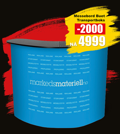 BLACK DAYS! Messebord Buet fra Markedsmateriell.no!