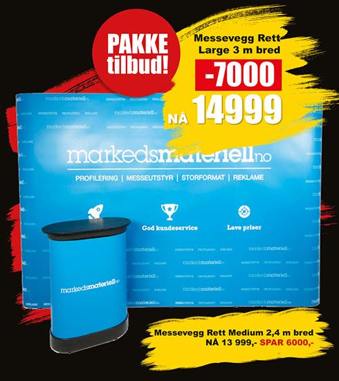 BLACK DAYS! Messevegg Pakketilbud fra Markedsmateriell.no!