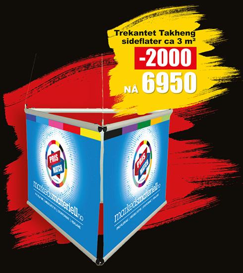 BLACK DAYS! Trekantet Takheng fra Markedsmateriell.no!