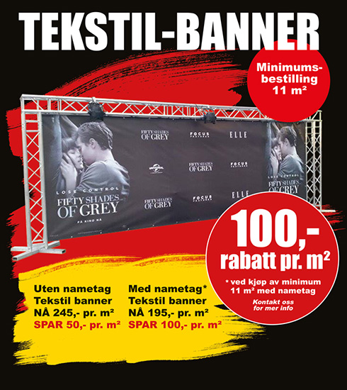 BLACK DAYS! Tekstil-banner fra Markedsmateriell.no!