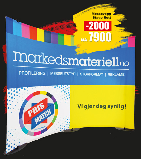 BLACK DAYS! Messevegg Stage Buet - Markedsmateriell.no