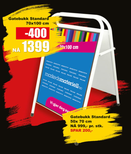 BLACK DAYS! Gatebukk Standard fra Markedsmateriell.no!