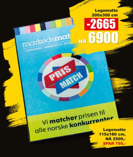 BLACK DAYS! Logomatte fra Markedsmateriell.no!
