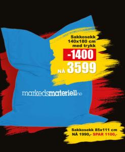 BLACK DAYS! Sakkosekk fra Markedsmateriell.no