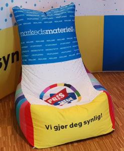Sakkosekk-stol fra Markedsmateriell.no!
