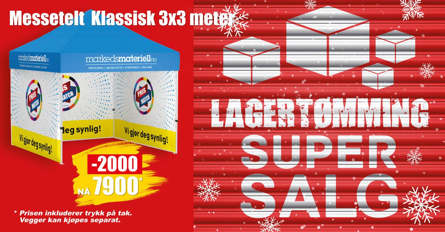 Lagertømming hos Markedsmateriell.no!